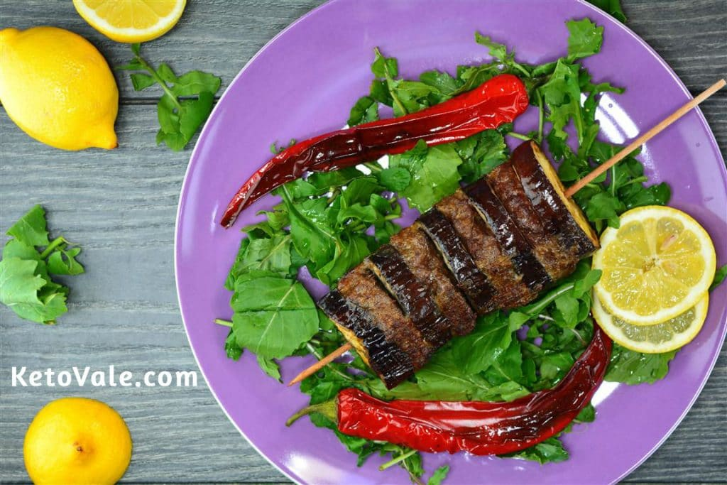 Beef and Eggplant Keto Kebab