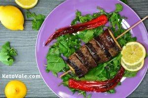 Beef and Eggplant Keto Kebab