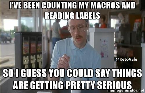 I'VE BEEN COUNTING MY MACROS AND READING LABELS