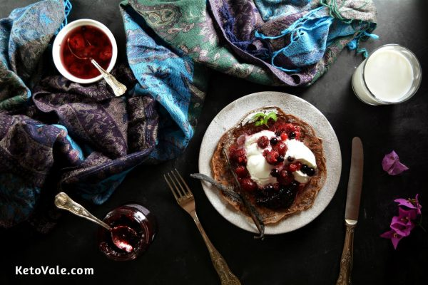 Yogurt Berry Keto Pancakes