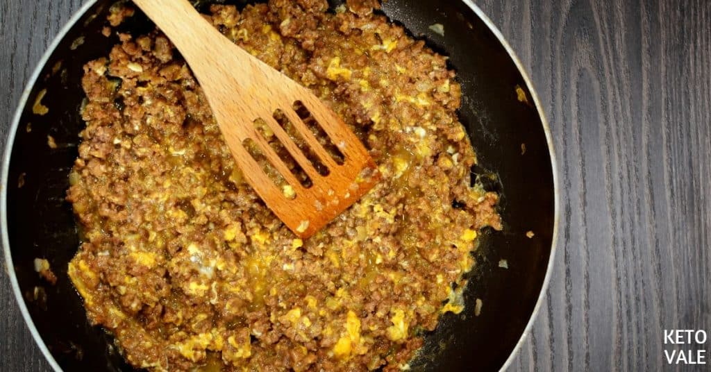 ground beef omelet