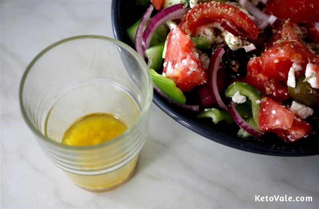 mixing olive oil