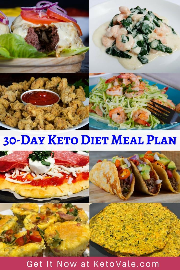 30+ Day Keto Diet Meal Plan, Shopping List & Free PDF Menu | KetoVale