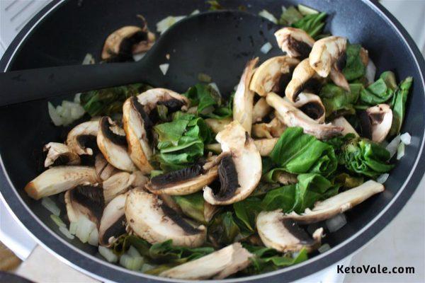 Frying dock mushrooms