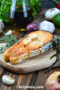 Garlic Salmon Steak