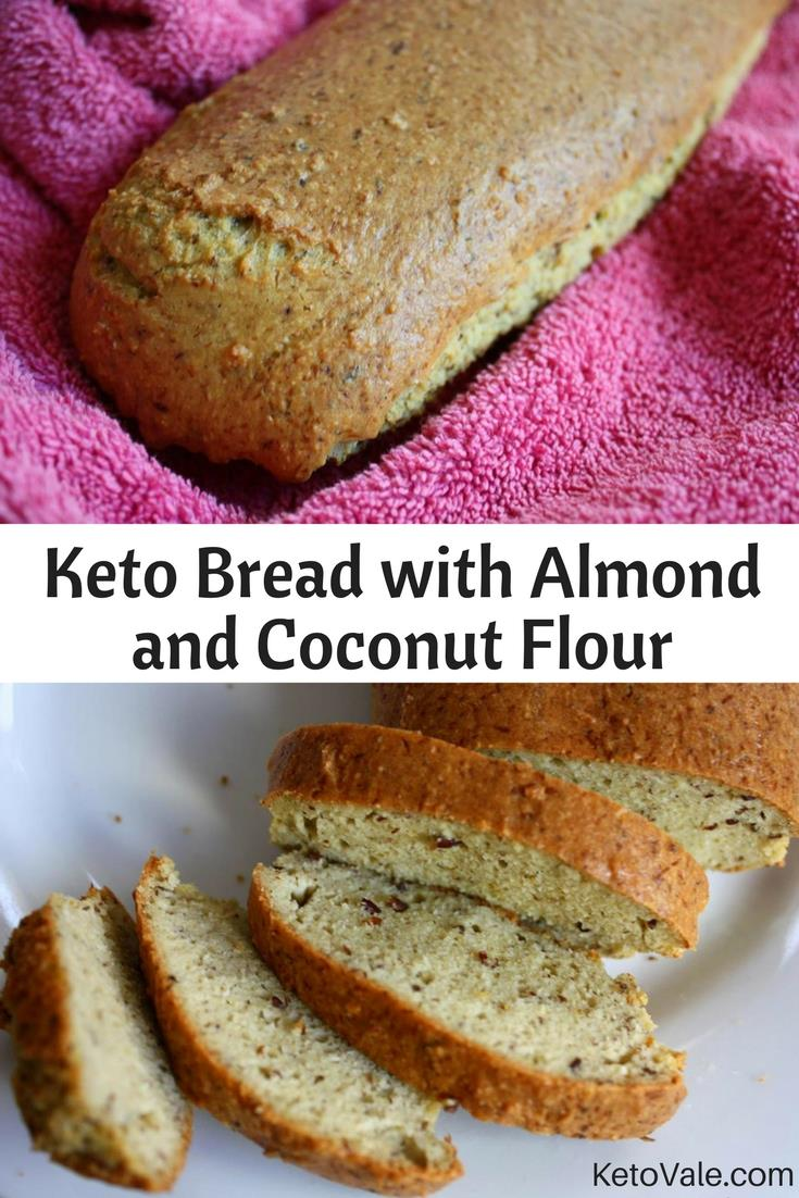 Keto Bread with Coconut and Almond Flour Recipe