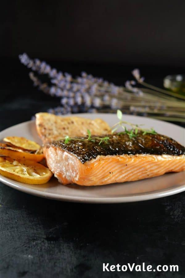 Baked Salmon Fillet Low Carb Recipe Keto Vale