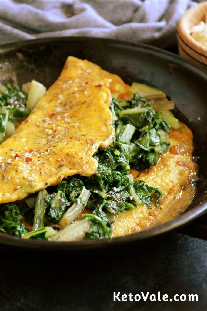 Swiss Chard Amp Spinach Omelet For Breakfast Low Carb Recipe