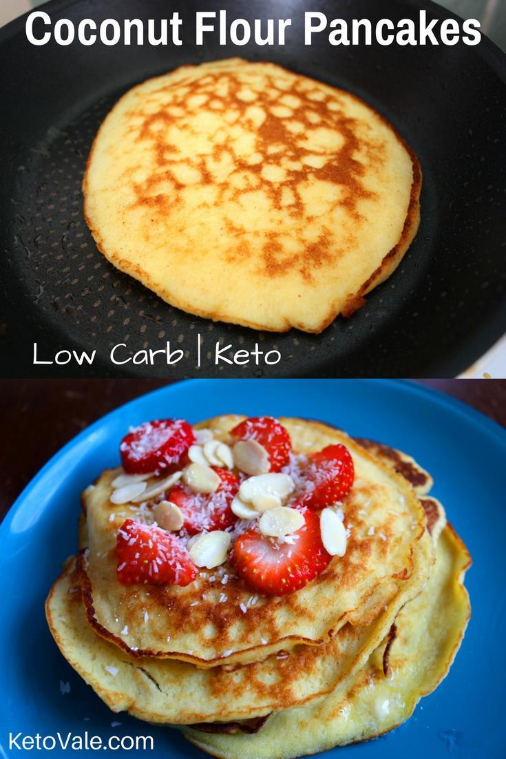 Keto coconut flour pancakes low carb recipe keto vale low carb coconut flour pancakes ccuart Gallery