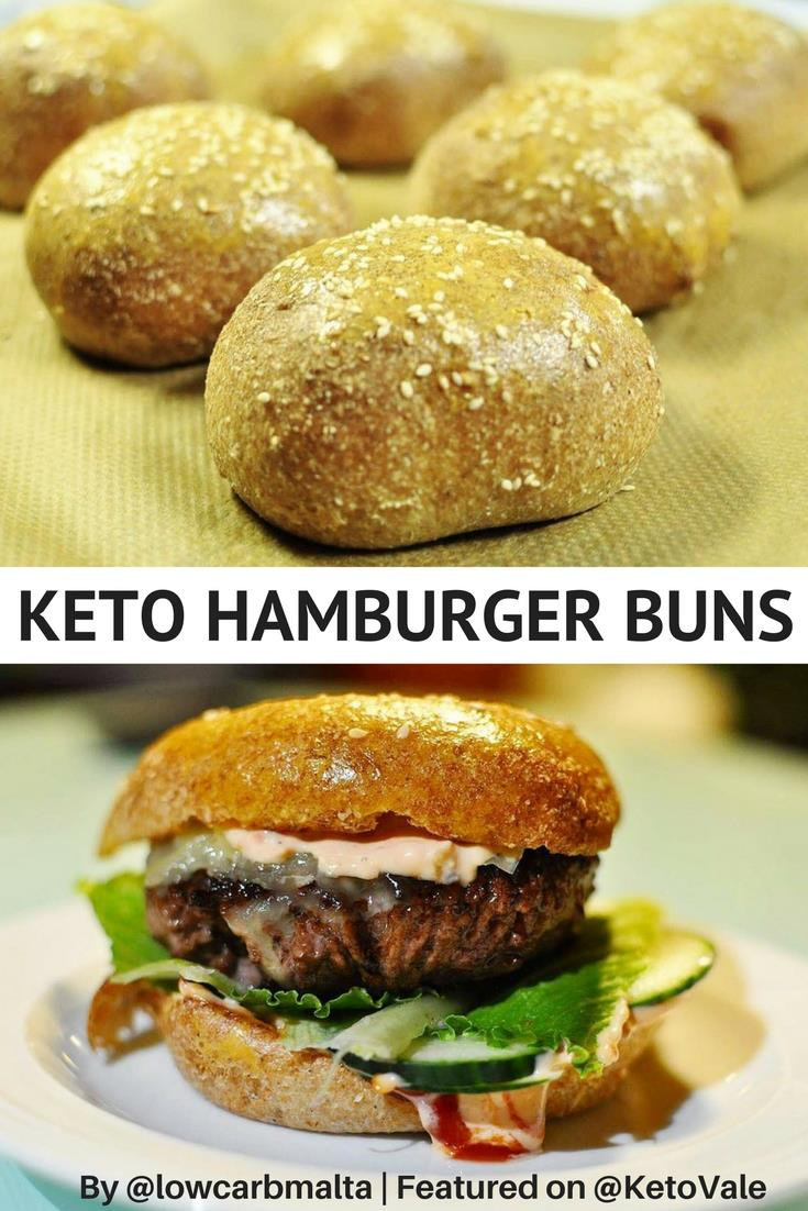 Home Made Low Carb Keto Gluten Free Hamburger Buns