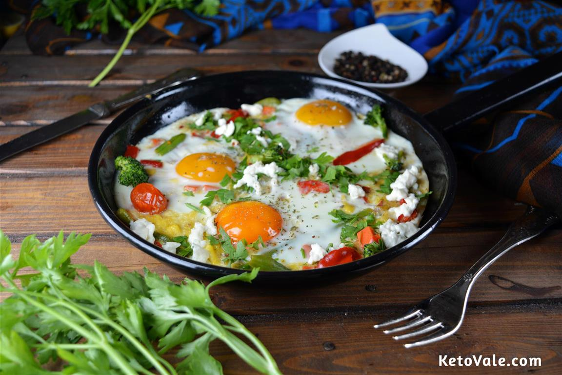 Poached Egg Vegetable Frittata