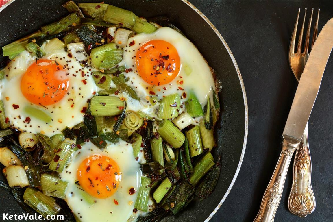 Poached Eggs with Leeks
