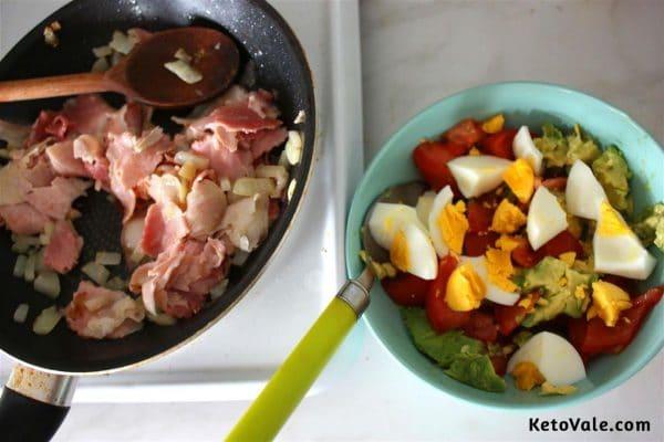 frying ham