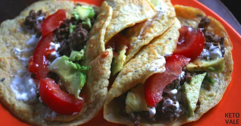 Keto Tortillas With Ground Beef Filling Low Carb Recipe Keto Vale