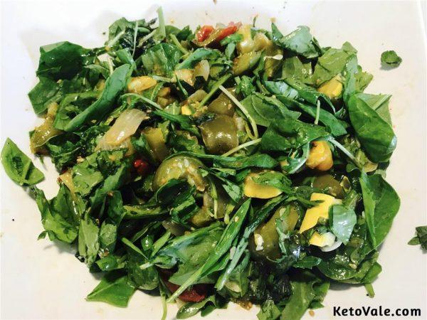 mixing veggies