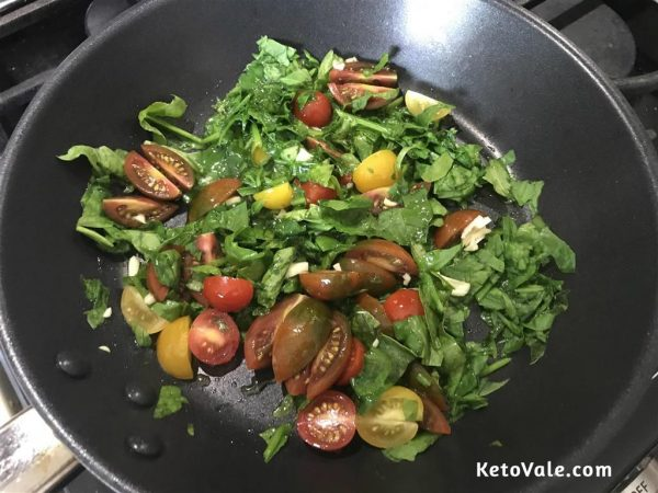 stir fry tomatoes spinach