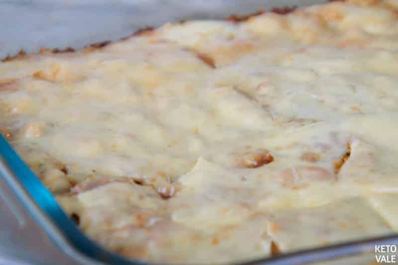 Baking eggplant lasagna