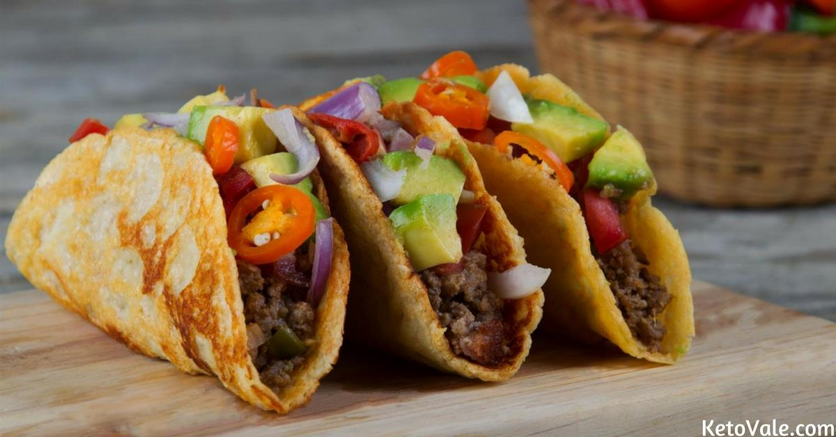 Keto Cheese Shell Tacos with Ground Beef Low Carb Recipe | Keto Vale