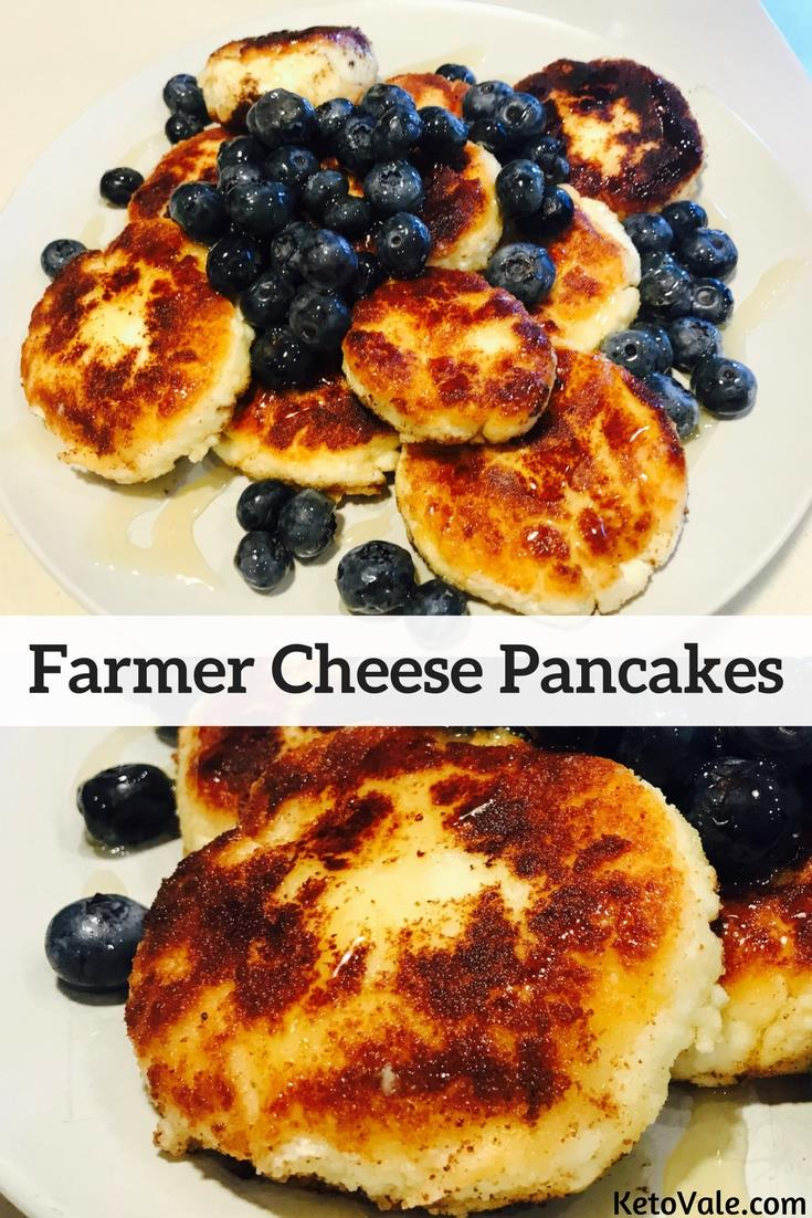 Keto Farmer Cheese Pancakes Low Carb Recipe