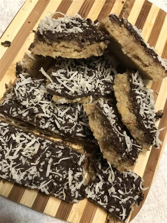 No bake low carb cookie bars