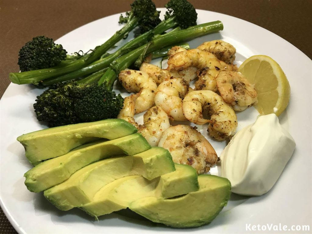 Roasted Shrimp With Broccolini