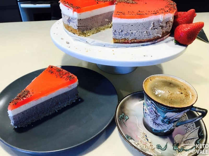 Serve mousse cake with coffee