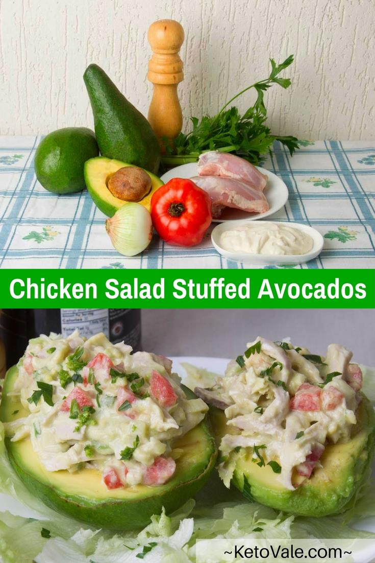Stuffed Avocados Chicken Salad Recipe