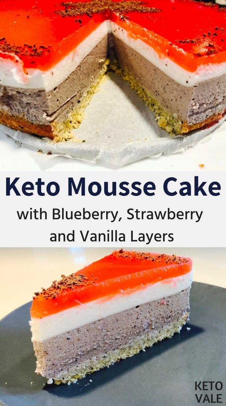 Sugar Free Keto Mousse Cake