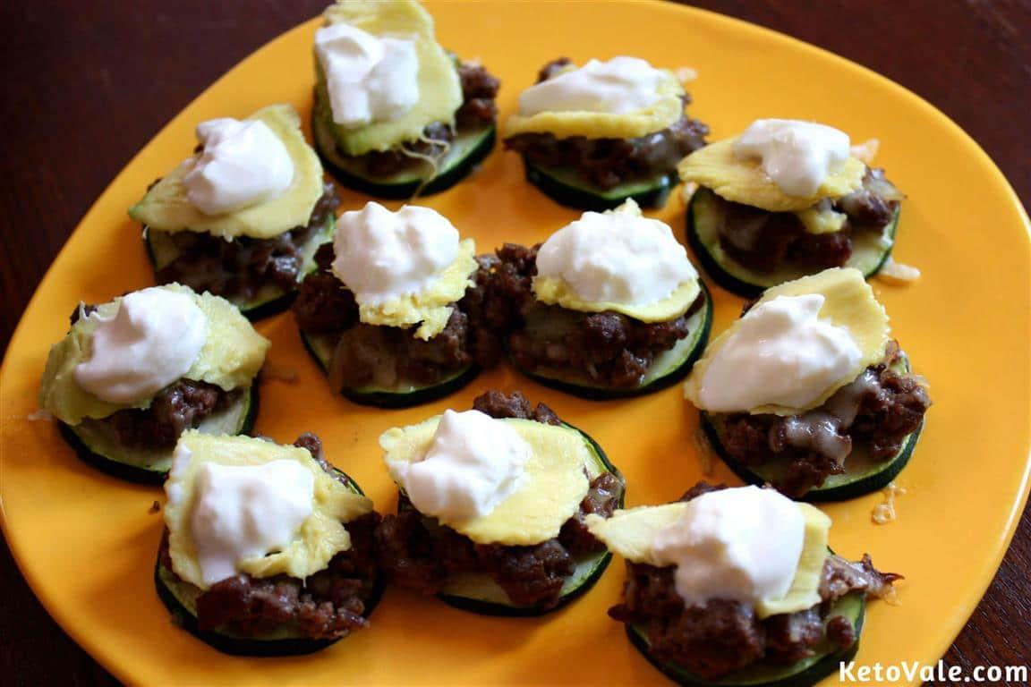 Zucchini Taco Bites