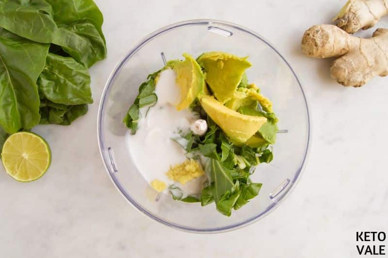 blend avocado spinach coconut milk