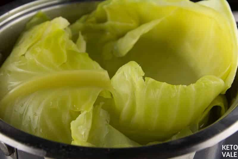 boil cabbage leaves