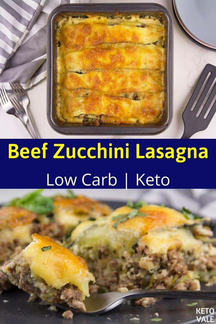 cheesy zucchini beef lasagna