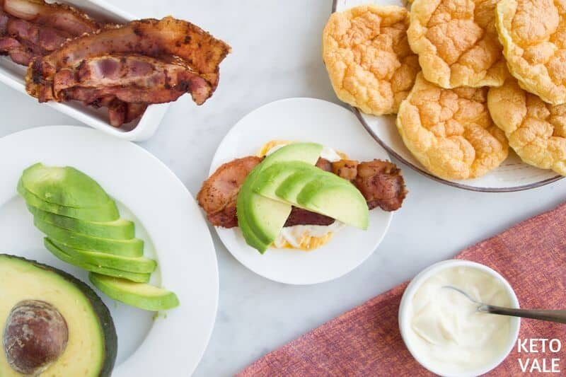 cloud bread bacon avocado