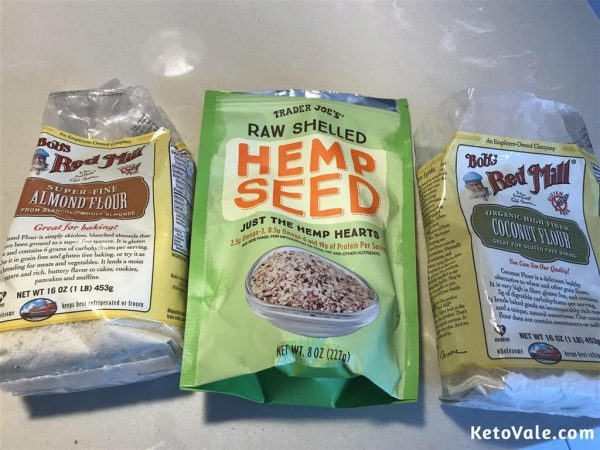 coconut almond and hemp seeds