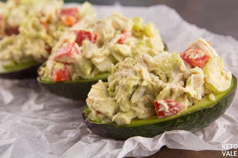fill chicken salad in avocado
