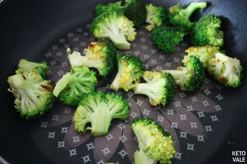 fry broccoli in butter