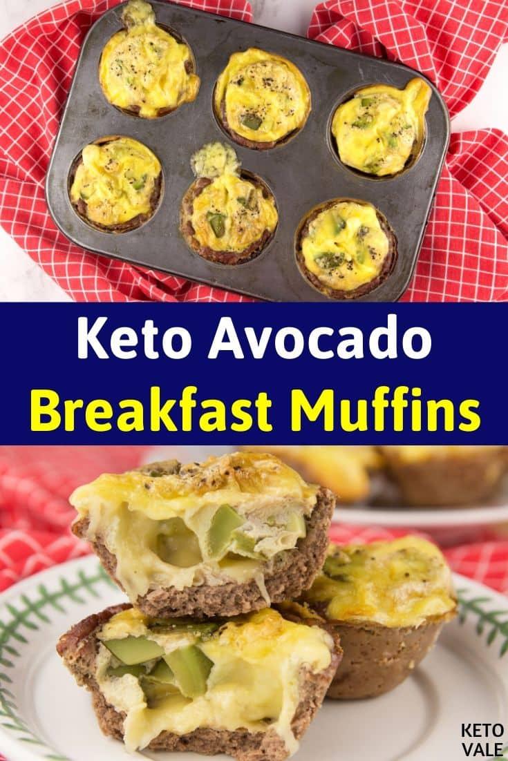 keto avocado breakfast muffins