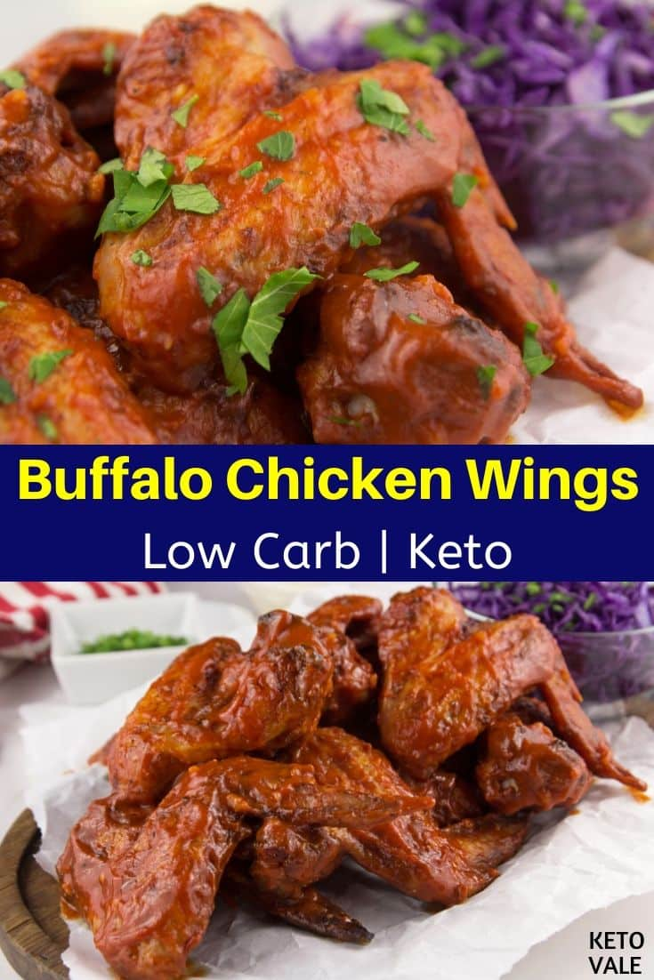 keto baked buffalo chicken wings