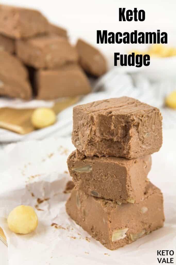 keto chocolate macadamia fudge