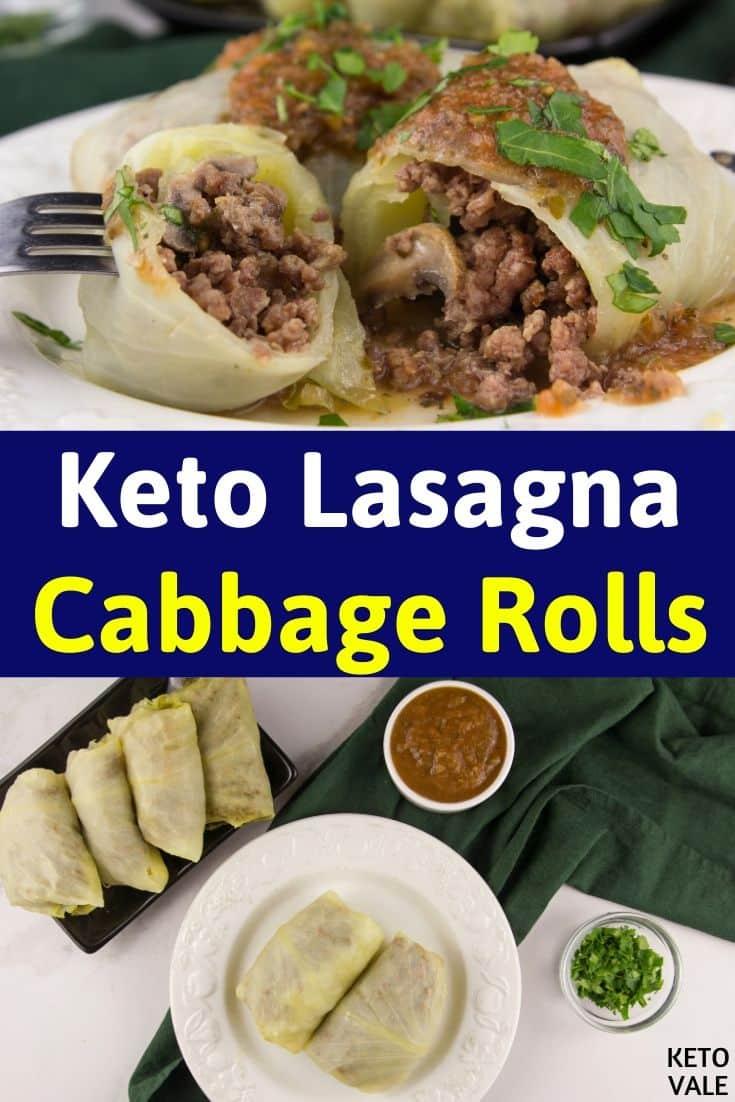 keto lasagna cabbage rolls
