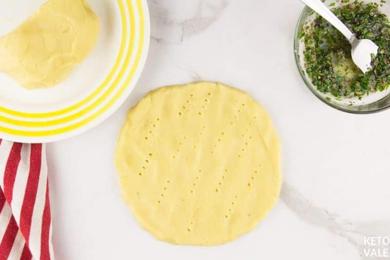 knead focaccia bread dough