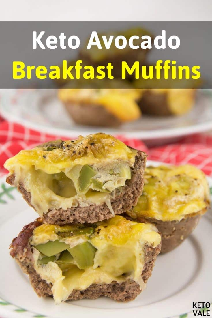 low carb avocado breakfast muffins