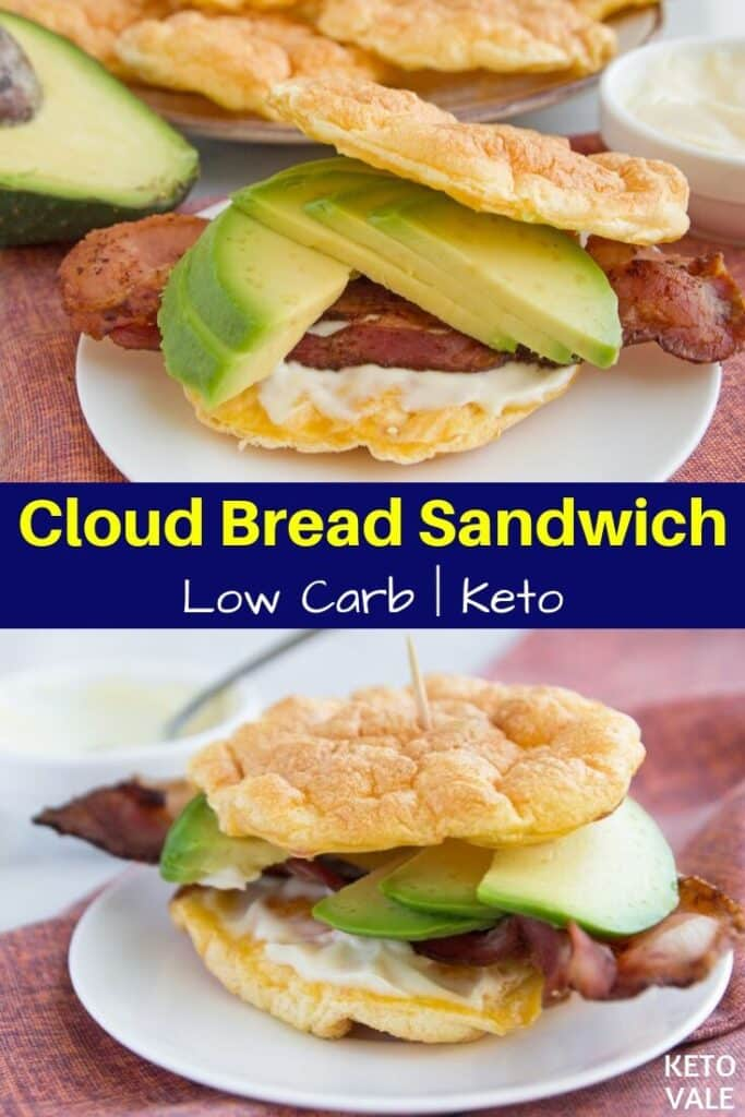 low carb cloud bread sandwich