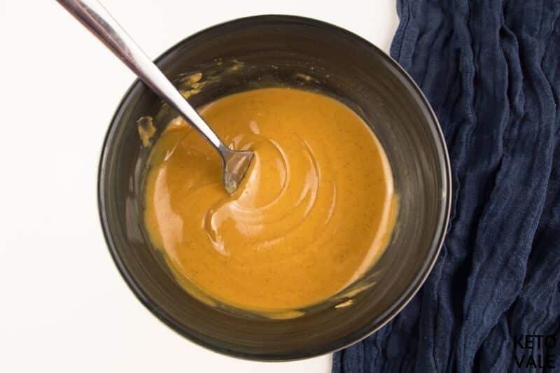 mix peanut butter vanilla extract