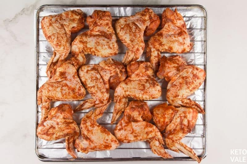 place wings on oven rack
