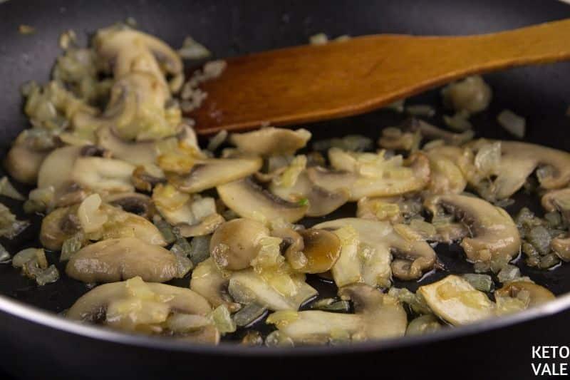 saute mushroom onion garlic