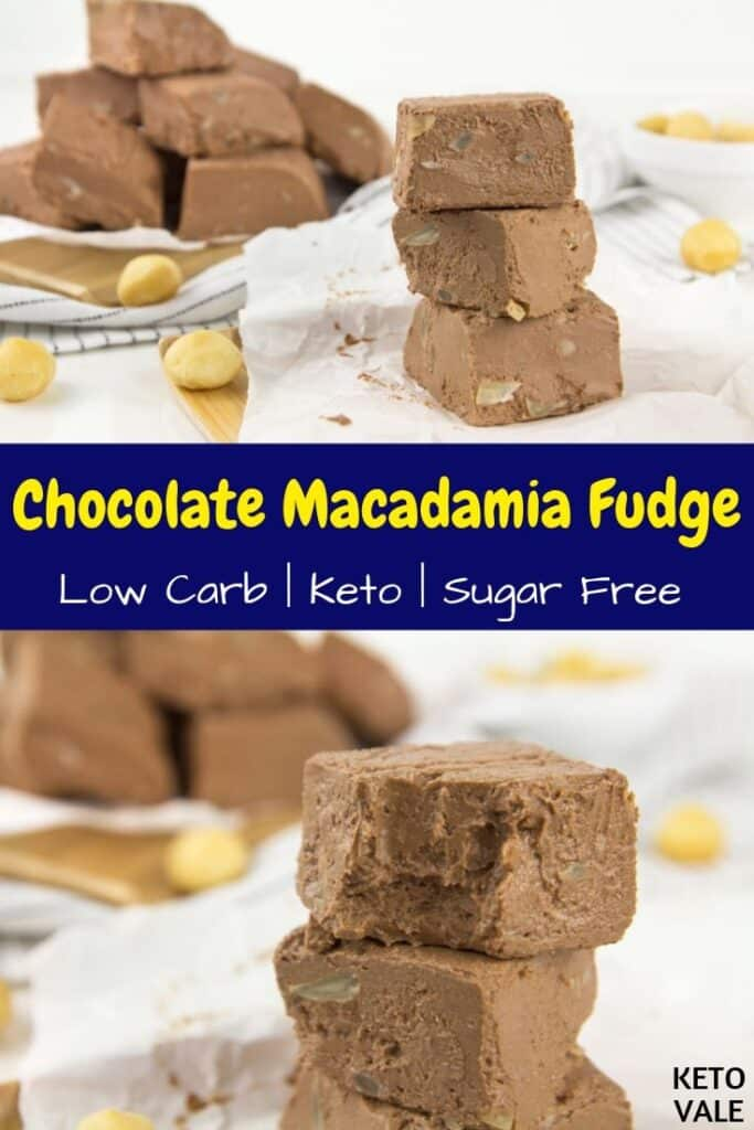 sugar free macadamia fudge