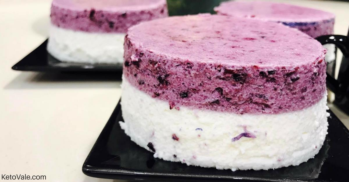 Blueberry Vanilla Mousse Cake