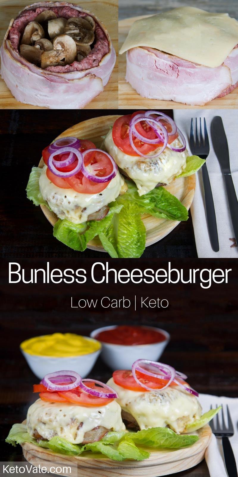 Bunless Cheeseburger
