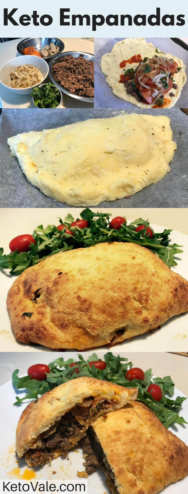 Keto Beef and Pepperoni Empanadas Low Carb Recipe